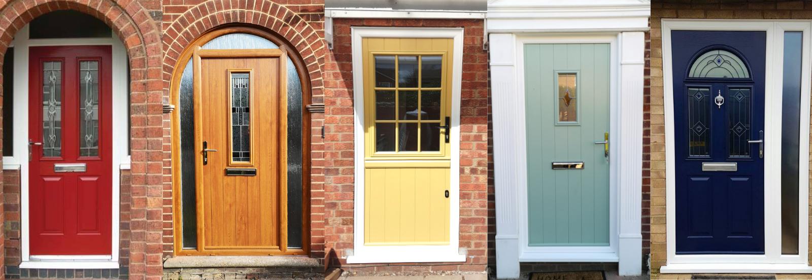 Five front door in various colours